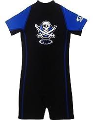 Combinaison de plongée imprimé pirate anti-UV unisexe pour enfant