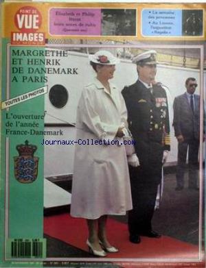 POINT DE VUE IMAGES DU MONDE [No 2051] du 20/11/1987 - ELISABETH ET PHILIP FETENT LEURS NOCES DE RUBIS. AU LOUVRE L'EXPOSITION REGALIA. MARGRETHE ET HENRIK DE DANEMARK A PARIS.