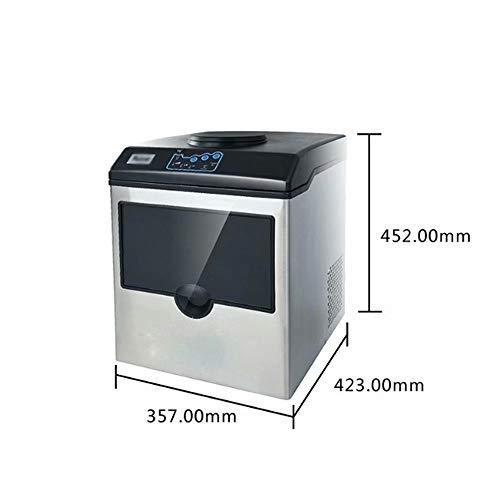 GL-home Eismaschine + Kühler - externer Wasseranschluss oder manuell nachfüllbar. 25 kg / 24 Stunden 160 Watt 8-12 Minuten Edelstahl Silbersilber
