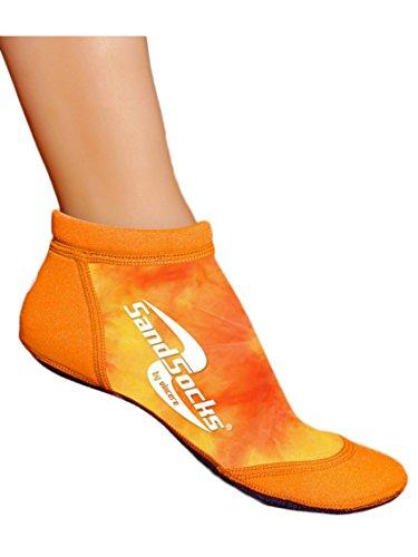 Sand Socks Vincere Low Cut Sprites Beach Volleyball Fußball Running Damen Herren, Unisex, Orange Sunset -