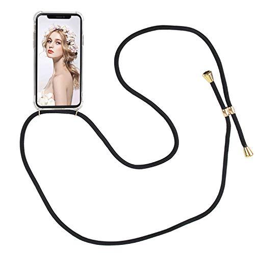ülle für iPhone XR Necklace Hülle mit Kordel zum Umhängen Silikon Handy Schutzhülle mit Band - Schnur mit Case zum umhängen ()