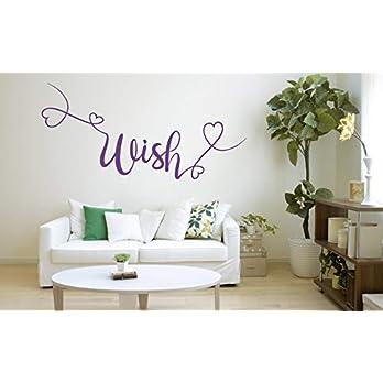 Wish Zitat, Vinyl Wandkunst Aufkleber, Wandbild, Aufkleber. Zuhause, Wanddekor. Schlafzimmer, Wohnzimmer, Wunsch