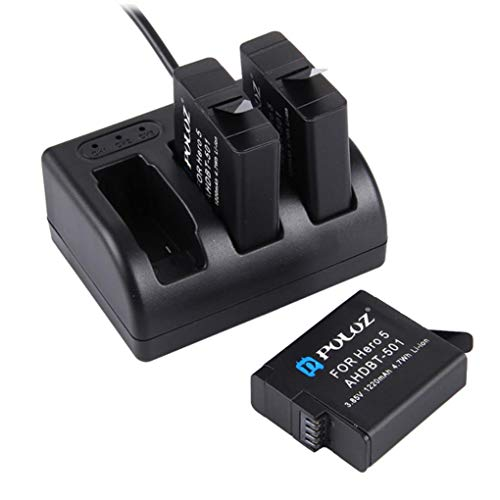 Yongse PULUZ Batterieladegerät mit Micro USB Type-C Interface LED Inldicator <893212