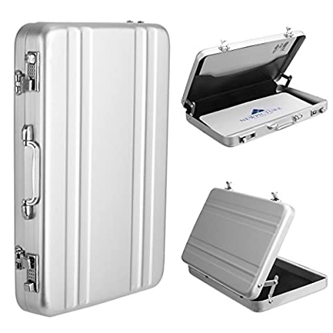 Woodmin Premium Aviation Aluminum Case/ Holder for Instax Mini Films/ Business Name Cards/ ID Cards/ Credit
