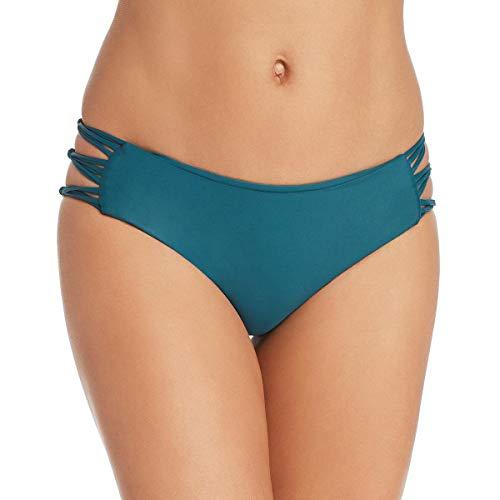 MIKOH Damen Badehose Barcelona Nylon Bikini - grün - Large