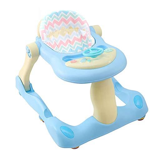 Baby-Wanderer, Geeignet for sechs Monate altes Baby Mute Rad, kann Musik Anti-Rollover spielen, lassen Sie die Mutter sicher sein, dass der Multifunktions Walker (Color : Standard blue)