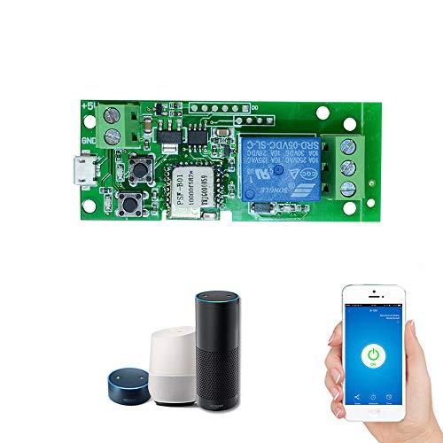 owsoo sonoff USB DC5V WiFi Schalter Wireless Relais Modul Smart Home Automatisierung Module Handy App Timer-Fernbedienung Schalter Alexa Sprachsteuerung für Access Control System Inching/selbstblockierenden