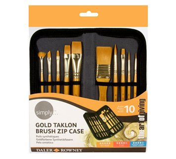 simply-acrylic-gold-taklon-brush-zip-case-10pc-the-art-of-giving