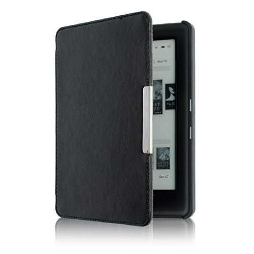 Culater® Mise en Veille Automatique Housse en PU Cuir Magnétique Pour KOBO GLO HD 6.0inch (Noir)