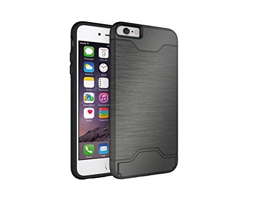 Coque iPhone 6 Plus,iPhone 6S Plus Housse,Slynmax Design de mode unique extérieur[Combo hybride][Lisse][Ultra mince][Pare-chocs]Résistant aux Rayures Étui Shock-Absorption Bumper Case des chocs Cover  Gris