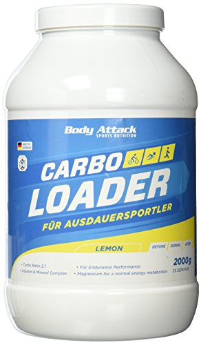 Body Attack Carbo Loader, Zitrone, 1er Pack (1 x 2 kg)