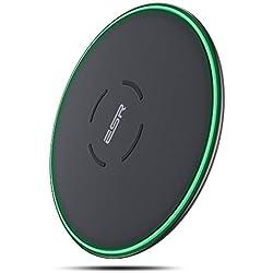 Caricatore Wireless , ESR Qi Caricatore Senza Fili [Mantenimento di Temperatura Bassa][STABILE E SICURA] [GARANZIA A VITA] per iPhone XS/XS Max/XR/X/8/8 Plus, Carica Rapida per Samsung Galaxy S8/S8+/S9/S9+, S7/S7 Edge, S6, Samsung Note 9/8 (Adattatore AC Non Incluso).