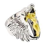 Hongma Fingerring Ring Engelsflügel Form Silber Legierung Vintage Unisex