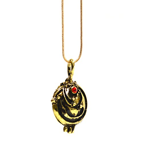 Samt-Box, inspiriert von Vampire Diaries'Elena Gilbert Eisenkraut Anhänger Glaskristall Antik Halskette Medaillon vergoldet