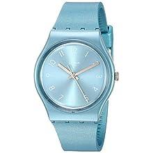 Swatch Damen Analog Quarz Uhr mit Silikon Armband GS160