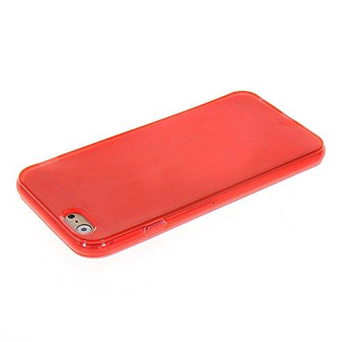 MOONCASE TPU Silicone Housse Coque Etui Gel Case Cover Pour Apple iPhone 6 Blanc Rouge 01