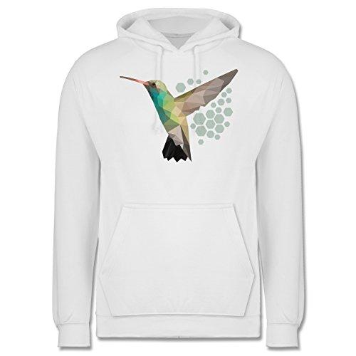 Vögel - Colibri - Männer Premium Kapuzenpullover / Hoodie Weiß