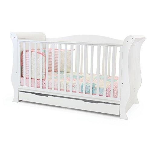 Babystyle Charnwood Hollie Sleigh 3 Piece Furniture Set - Fresh White  Babystyle