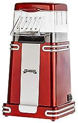 Gadgy ® Popcorn Maschine | Retro Popcorn Maker | Heissluft Ohne Fett Fettfrei Ölfrei