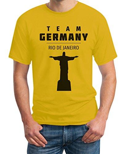 Fanartikel Olympics Team Germany 2016 Rio De Janeiro Jesus T-Shirt Gelb