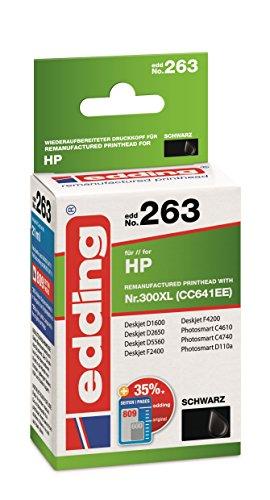 edding 18-263 Druckerpatrone,  Ersetzt: HP Nr. 300XL (CC641EE), schwarz - Deskjet Drucker Treiber