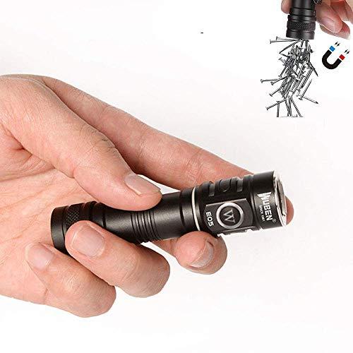 WUBEN E05 EDC Taschenlampe 900 Lumen USB Wiederaufladbar 6 Modi Cree LED Taschenlampe Freisprecheinrichtung Wasserdichte Mini Taschenlampe mit 14500 Batterie Enthalten
