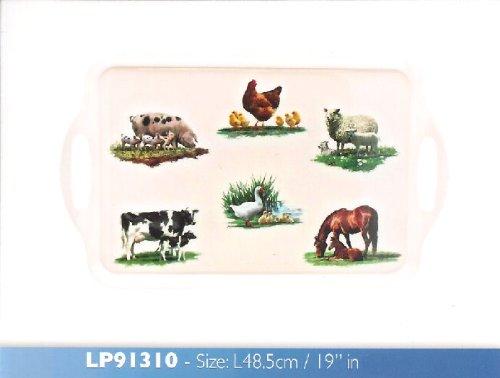 Macneil Farmyard Animals 48cm Melamine Sandwich Tray Leonardo LP91310 by Leonardo -