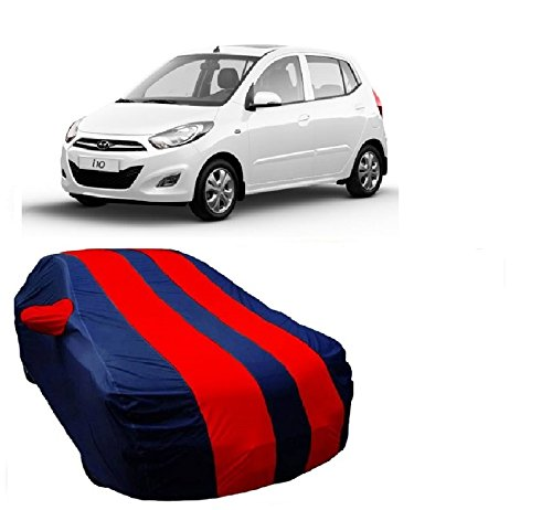 MotRoX Car Body Cover For Hyundai i10 with Side Mirror Pocket (Red & Blue)  available at amazon for Rs.679