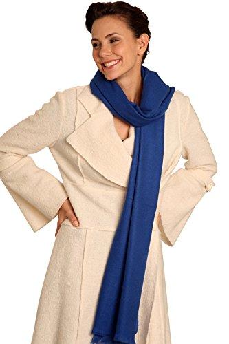 Pashmina Schal 100% Kaschmir - 60 x 160 cm - 18 Farben Kaschmirschal, Royal-Blau, 60 x 160 cm (Royal Kaschmir Blau)