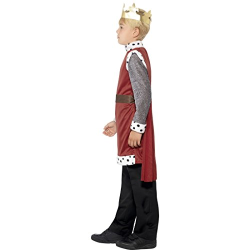 stüm Königssohn Verkleidung mit Krone S 4-6 Jahre 110-128 cm Adeliger Ritter Kinderkostüm König Arthur Karnevalskostüm Jungen Tunika mit Umhang Märchenprinz (Kostüme Prinz)