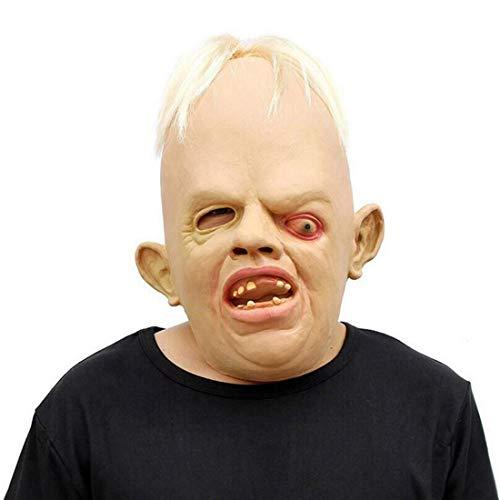 HJJHJ Masken Neuheit Latex Gummi Gruselig Grusel Faultier Kopf Masken Gesicht Schrecklich Zum Halloween Kostüm Party