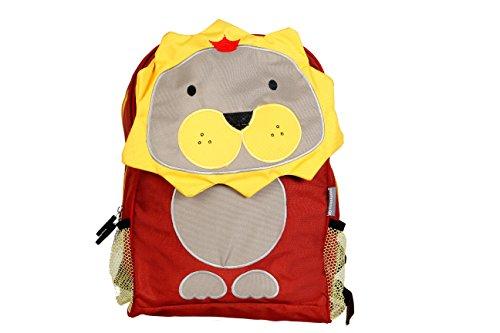 My-Milestones-PVC-Free-KidsToddler-3D-Animal-faced-Premium-BackpackPreschool-Bag-Lion