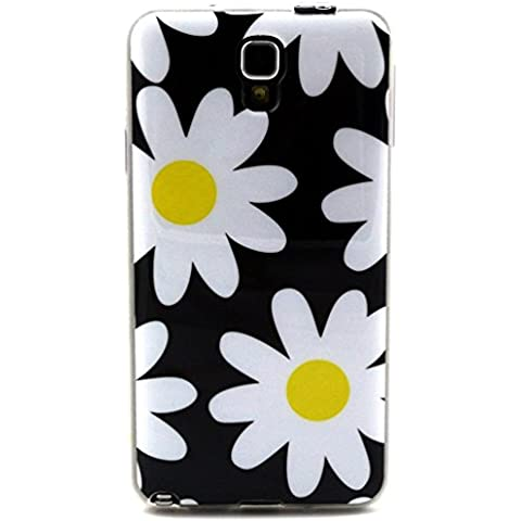 Galaxy Note 3 Neo TPU Case,Funda de Gel Soft Silicona TPU Carcasa para Samsung Galaxy Note 3 Neo SM-N7505 Back Case Cover-Flor