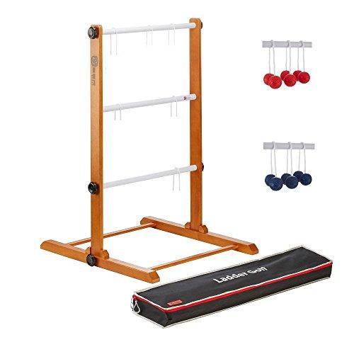 f Spiel Spinladder Wurfspiel mit Soft Bälle, Rot Blau, in Trage Tasche (Ladder Ball Bälle)