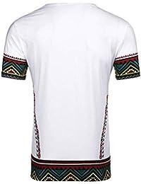 2019 Nuevo Verano Patrón de Estilo étnico T Camisa de los Hombres tamaño de la Ropa