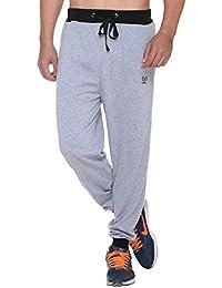 VIMAL Jonney Men's Grey Cotton Trackpants-D9MELANGE-P