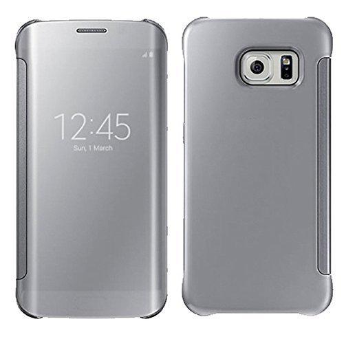 Galaxy S6 Edge Plus, LEKESI Espejo de Lujo Clear View Case Cover...