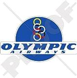 Voies Respiratoires Olympiques Grec Compagnies Aériennes, Aviation 15,2cm (150mm) en vinyle Bumper Sticker, autocollant...