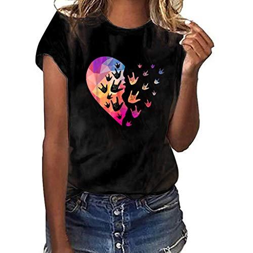 WOZOW Kurzarm Oberteile Tops Men Slogan I Love You 3000 Times for Ironman Letters Muster Print Druck Shirts Cool Solid O Ausschnitt Loose Lose Geschenk Gift Blouse (XL,Grün)