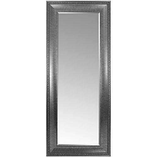 Multistore 2002 Riesiger Wandspiegel mit Facettenschliff und Verzierungen 170x70cm Antik-Optik Silber/Grau Hängespiegel Flurspiegel Ganzkörperspiegel Spiegel