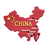 Chinesische Karte 3D Kühlschrankmagnet, China Rot Flagge Tourist Souvenirs, Home Kühlschrank Aufkleber Dekoration