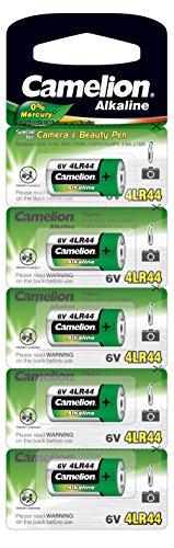 Camelion 12050544 Kamera Spezial Batterien ohne Quecksilber AG13/4LR44/6 Volt, 5er-Pack