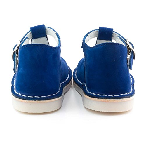 Boni Mini Henry - Sandales enfant Daim Bleu Marine