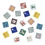 Sebra Memory in der Box, Little Driver/Singing Birds, Bunte Motive Legespiel 30 Teile, Unisex, neutral ab 3 Jahre