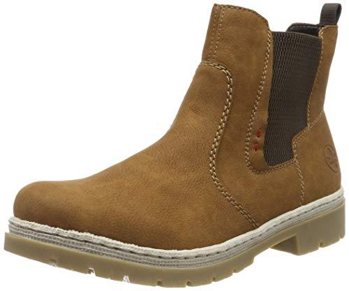 Rieker Damen Y9454 Chelsea Boots, Braun (Cognac/Brown 22), 38 EU