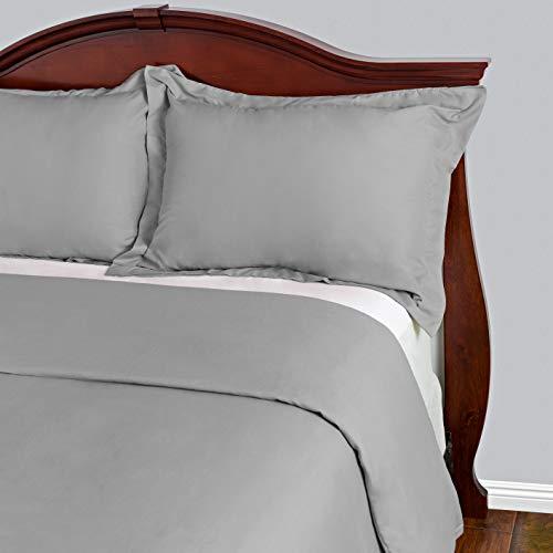Cosy House Collection Bettwaren Sets 3-faltenfrei und schmutzabweisend-reißfest-100% Mikrofaser-Die meisten Langlebig Tröster Arbeit Hypoallergen Bettwäsche Cover, silber, Full/Queen (Wasserbett Spannbettlaken Queen)