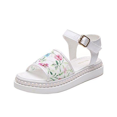 Brancos on Flores Verão Femininos Do Casuais Sapatos Apartamentos Calçados Sandálias Slip Sannysis wpnFSxZqf