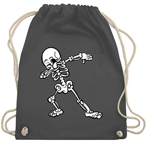 Halloween - Dabbing Skelett - Unisize - Dunkelgrau - WM110 - Turnbeutel & Gym Bag