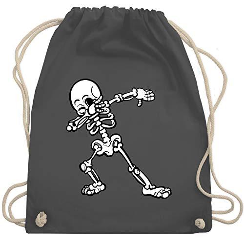 Halloween - Dabbing Skelett - Unisize - Dunkelgrau - WM110 - Turnbeutel & Gym Bag (Halloween-kostüme Für 2019 Frauen Beliebte)