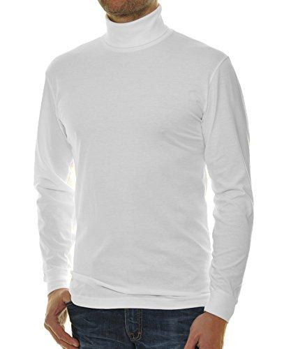 RAGMAN Rollkragen Pullover Baumwoll-Jersey L, Weiss-006 (Rollkragen-pullover)